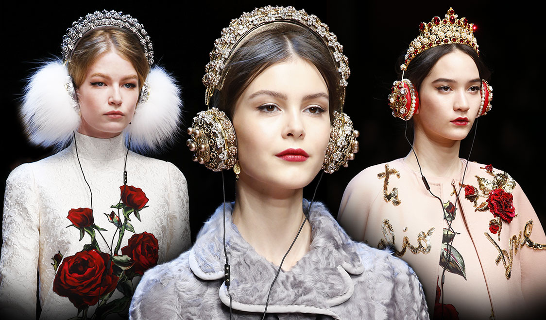 Dolce-and-Gabbana-crystal-and-fur-headphones-for-Fall-Winter-2015-2016-cover