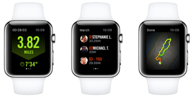 Nike Running on AppleWatch