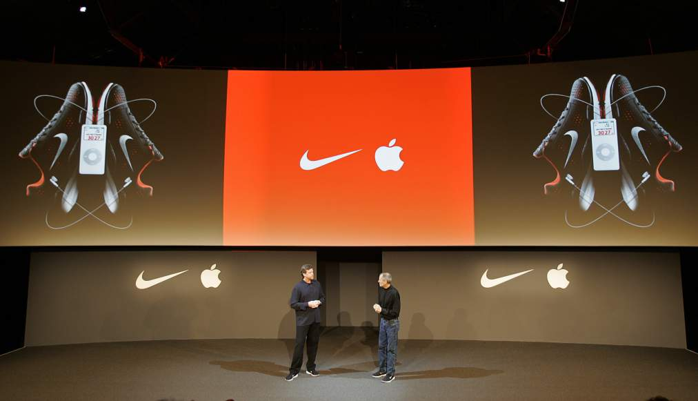 Nike CEO Mark Parker and Apple CEO Steve Jobs