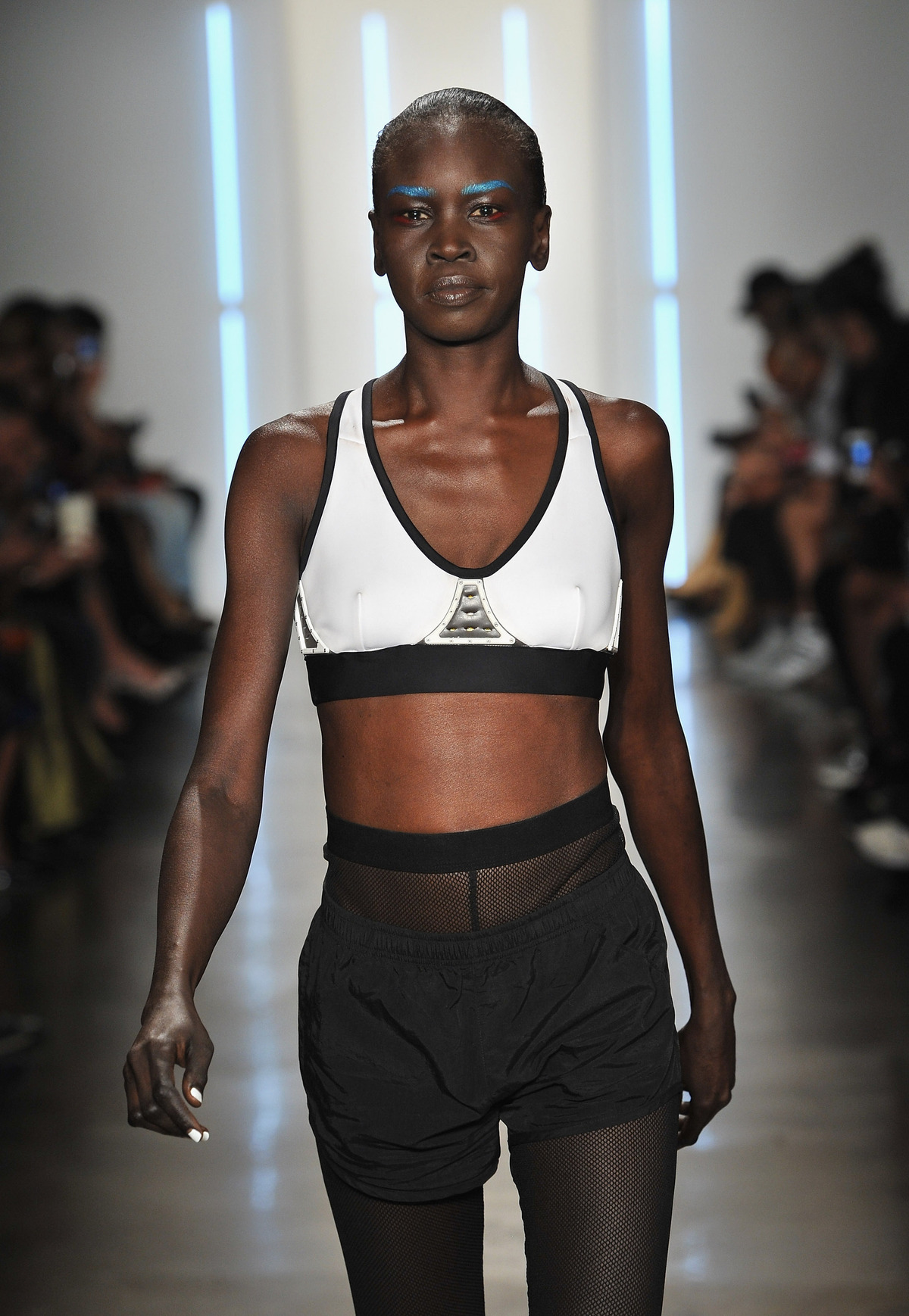Alek Wek at Chromat SS16 NYFW Runway (Photo Credit: Fernando Leon/Getty Images for Chromat)