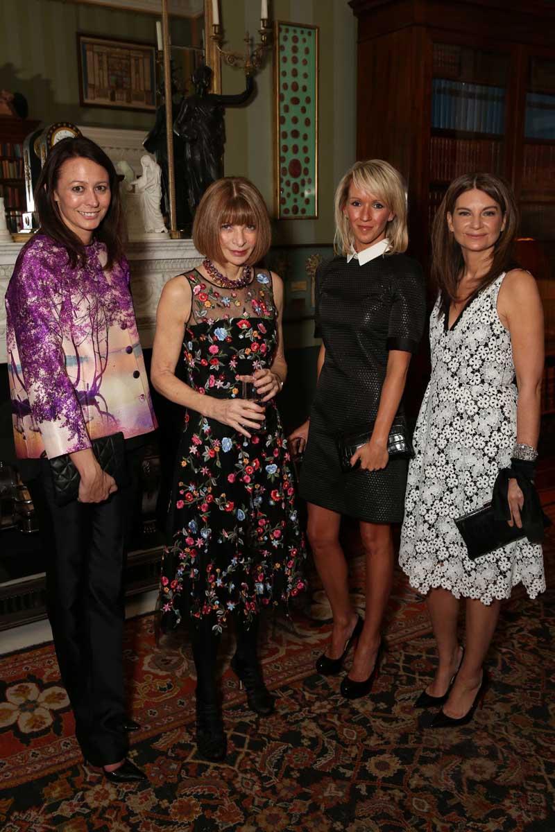 Caroline Rush With Anna Wintour, Julia Carey and Natalie-Massenet