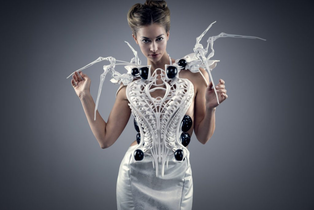 Spider dress white