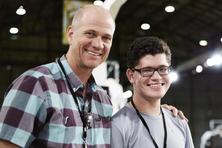 Matthew Walzer with Nike designer Tobie Hatfield
