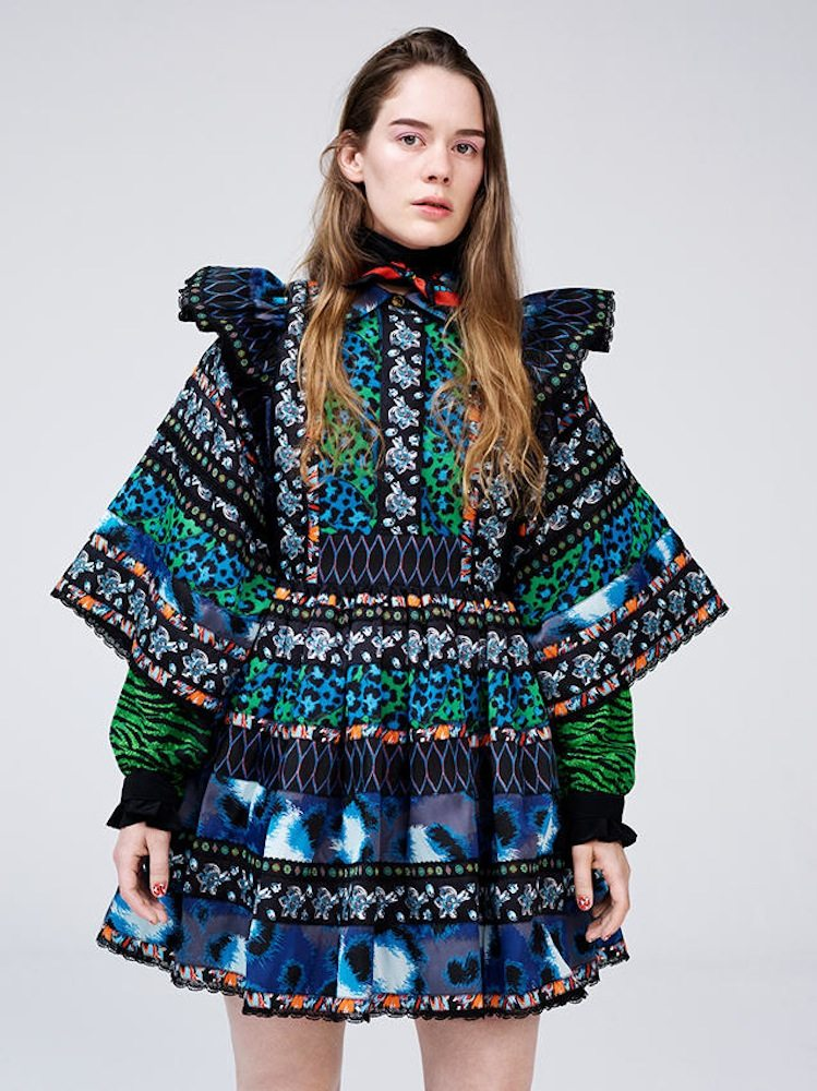 One of our favourite looks, a dress from the Kenzo x H&M collection, £149.99, worn by Norwegian musician Anna of the North.