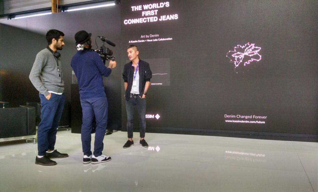 Kim Gustafssonof Neue Labs being interviewed
