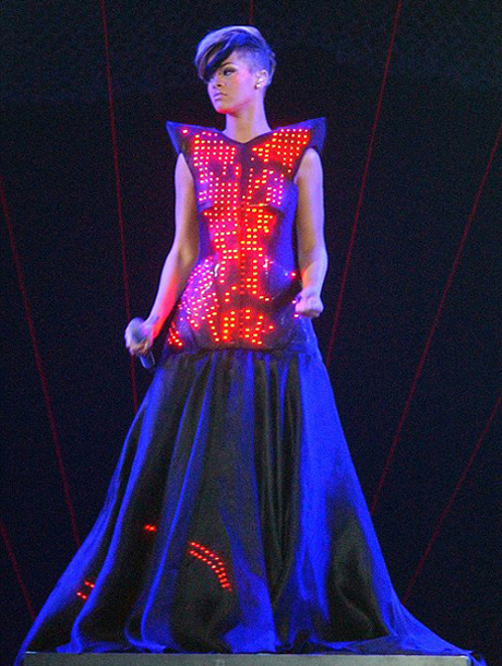 lexandre Vauthier, this futuristic outfit, which featured more than 50 lasers,