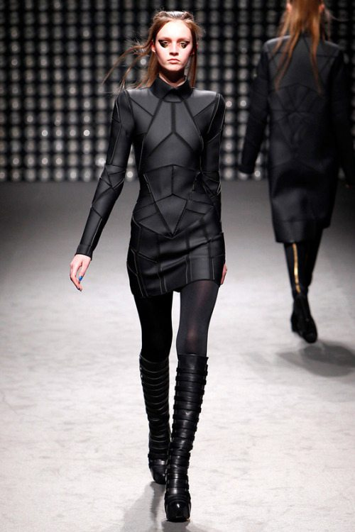 Futuristic Fashion Model Royalty Free Stock Photos: Futuristic Fashion By Gareth Pugh