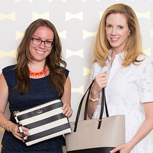 Everpurse CEO Liz Salcedo (left) with Kate Spade & Co. CMO Mary Beech.