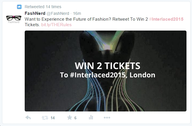 Interlaced Competition 2015 TWEET