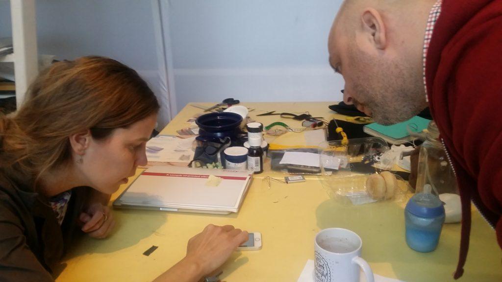 Talking innovation, FashNerd founder Mano ten Napel with Marina Toeters